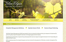 Glen Elgin Vineyard Management Website